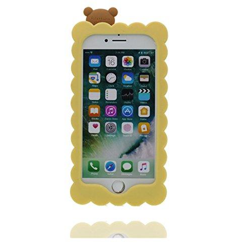 """iPhone 6 (4.7"""") Coque, [ de matériau TPU souple élégant durable ours,bear ] iPhone 6s étui (4.7 pouces), poussière glissement résistant aux rayures, iPhone 6 (4.7"""") Case et stylet"""