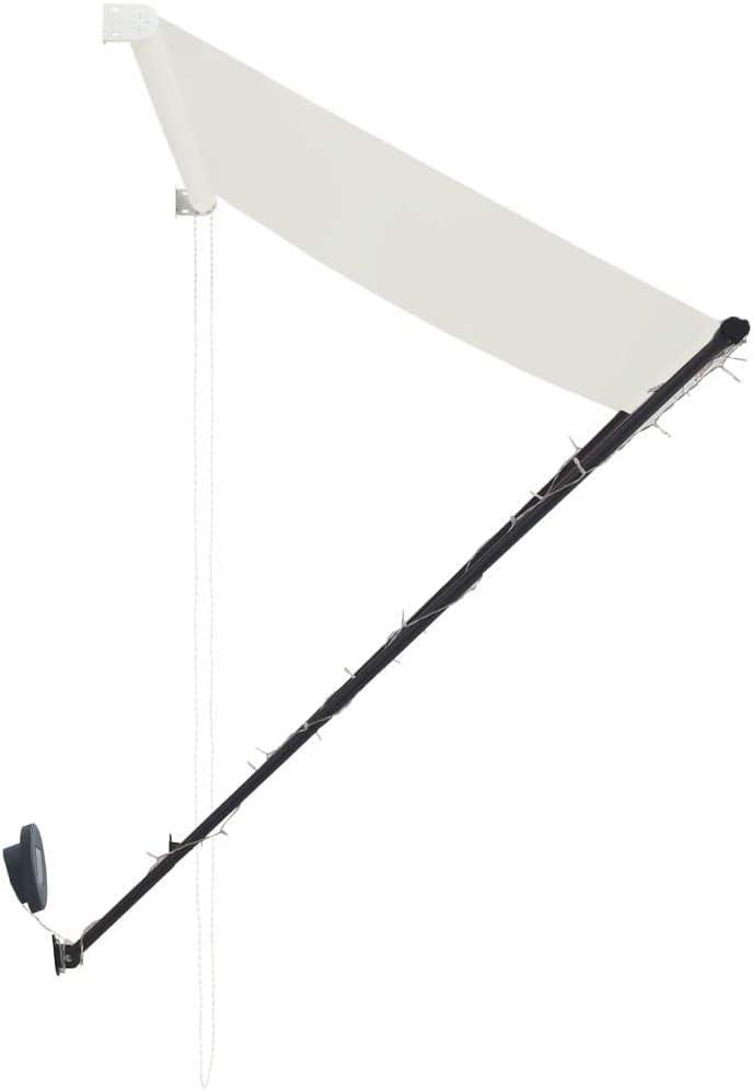 FAMIROSA Toldo retr/áctil con LED Color Crema 150x150 cm