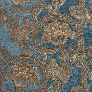 Pukido Deluxe Classic Sofa Chair Chenille Fabric 3 Colors Woven Curtain Windows Drapery Decorative Interior Cloth 280cm Sell by Meter - (Color: Blue - Chenille Sofa Classic