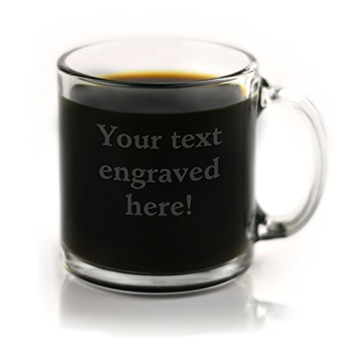 (Personalized Coffee Mug Engraved with Your Custom Text)