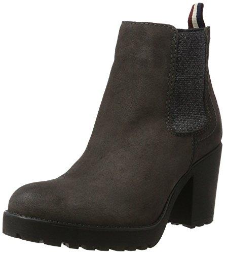 Tommy Jeans Damen B1385oo 1b Chelsea Boots Grau (Steel Grey)