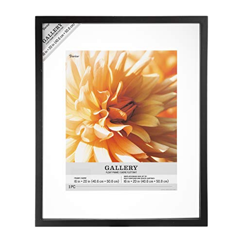 Darice Wood Float Frame: Black, 16 x 20 Inches