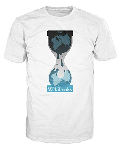 Wikileaks Anonymous Operation T-shirt (L, White)