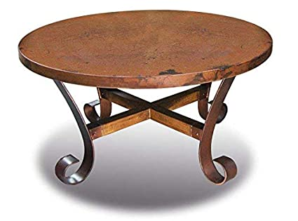 Amazon Com Ridge Round Copper Coffee Table Fully Assembled Kitchen