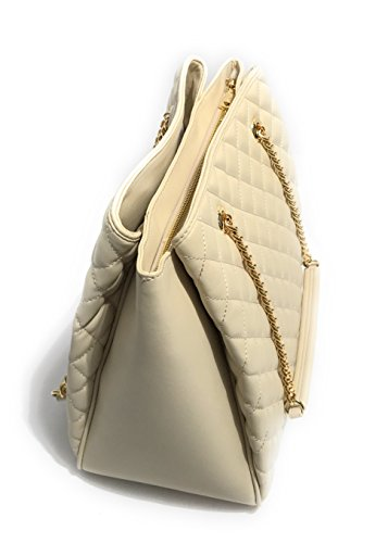 Shopper Color Trapuntato Borsa Donna Love Comparti Nappa Moschino 3 Avorio Bs18mo116 qASPwt