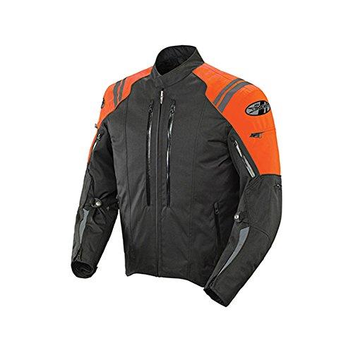 Joe Rocket Atomic 4.0 Men's Textile On-Road Motorcycle Jacket - Black/Orange/Large