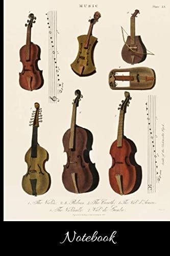 "Notebook: Gift for Viola player, Viola Teacher, Vintage Viola, Antique (6"" x 9"" Lined Notebook, 110 Pages)"