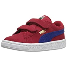 PUMA Kids' Suede Sneaker with Hook-and-Loop Straps