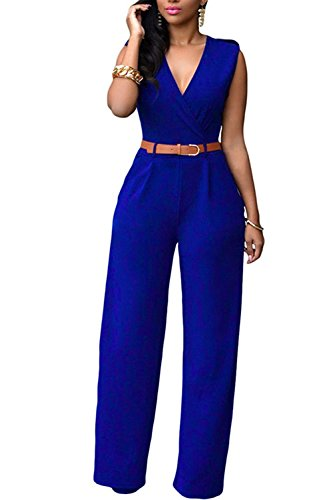 Mintsnow Womens Sleeveless Wide Leg Palazzo Pants Jumpsuit ...