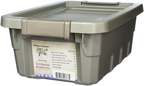 Ultimate Breakfast Kit, 138 Servings of Food For Long-Term Emergency Storage, Up to 25-Year Shelf Life, 7 Delicious Breakfast Foods by Patriot Pantry