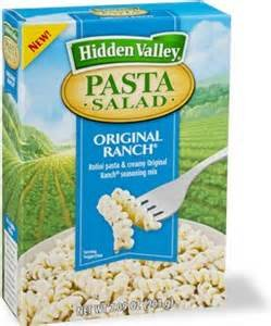 HIDDEN VALLEY PASTA SALAD ORIGINAL RANCH 7.9 OZ