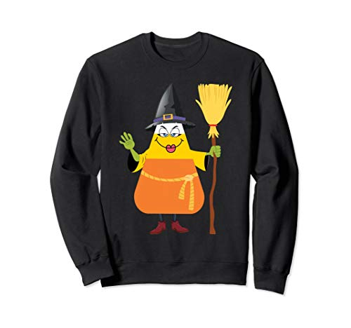 Candy Corn Witch Sweatshirt Funny Witches Trick Or Treat