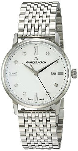 Maurice Lacroix Women's 'Eliros' Swiss Quartz Stainless Steel Casual Watch, Color:Silver-Toned (Model: - Khor Michael