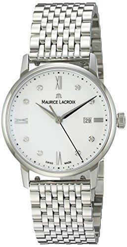 Maurice Lacroix Women's 'Eliros' Swiss Quartz Stainless Steel Casual Watch, Color:Silver-Toned (Model: - Michael Khor