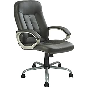 New High Back Executive Leather Ergonomic Office Chair W Metal Ba