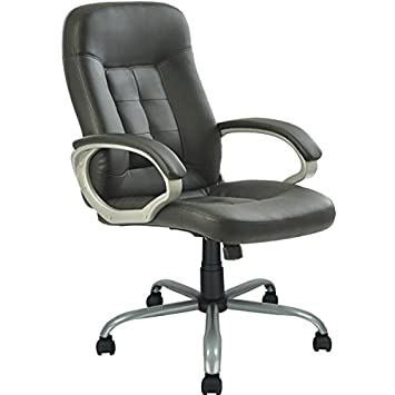 high back executive leather ergonomic office chair wheavy duty metal base - Heavy Duty Office Chairs