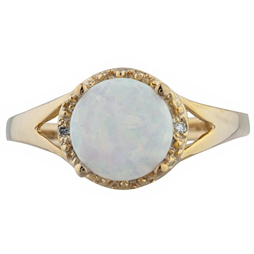 Genuine Opal & Diamond Halo Design Round Ring 14Kt Yellow Gold Rose Gold Silver