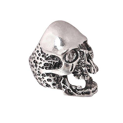 Shusuen ☜ 1PC Man's Skull Ring Creative Hip-hop Style Ghost Ring Jewelry Gift Halloween Birthday Present from Shusuen