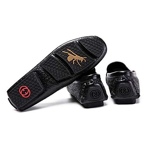 Nero Shoes Pelle Primavera Driving Autunno Slip Per Soles Casual ONS Scarpe Light In Black E Mocassini Uomo Da wFnfa