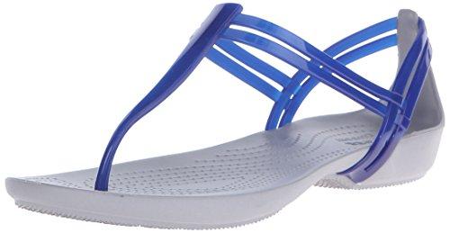 Crocs Womens Isabella T-Strap Cerulean Blue 4WaAKj