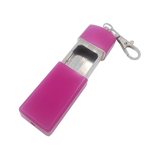 Honoro Lady's Portable Pocket Ashtray,Metal Outdoor Ashtray with Keychain for Outdoor Use,Purple ()