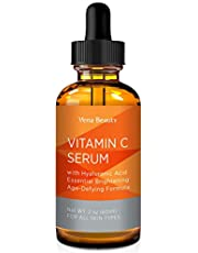 Vitamin C Facial Serum Plus Hyaluronic Acid for Anti-Aging, Wrinkles, and Fine Lines - For Radiant and Healthy Skin
