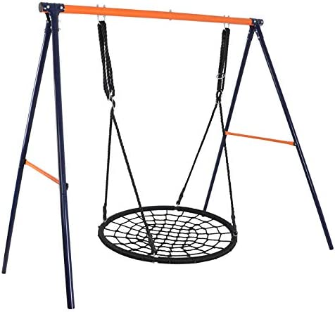 Super Deal 40 Web Tree Swing Set – Extra Large Platform – 360 Rotate – 71 Adjustable Detachable Nylon Rope – Attaches to Trees or Swing Sets – for Multiple Kids or Adult Combo Set 48