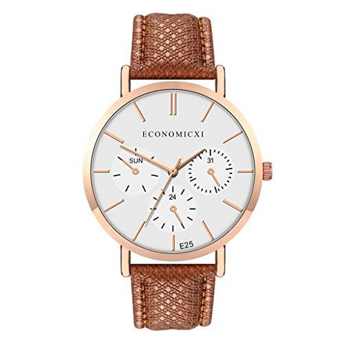 LUXISDE Watch Women Fashion Simple Belt Watch Without Digital Fake Three Eye Female Quartz Watch H