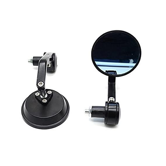 Dhe Best Trustway Metal Glass Bike Rear View and Handle Bar Side Round Shape Mirror for Royal Enfield Standard 350 Twin