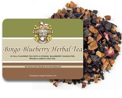 English Tea Store Herbal Loose Leaf Tea, Bingo Blueberry, 16 Ounce by English Tea Store