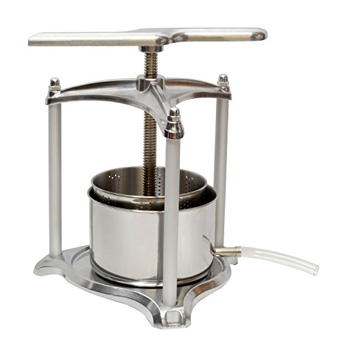 Fruit Press, 3 Liter - Grape Press for Wine Making - Fruit Crusher - Juice Press, Wine Press, Apple Press ()