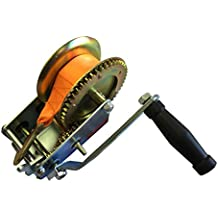 Quick Mount 2000LB Hand Winch With Tow Strap, Great For Any Project
