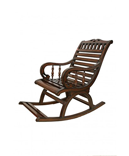 Adlakha Furniture Espresso Comfy Rocking Chair, Brown