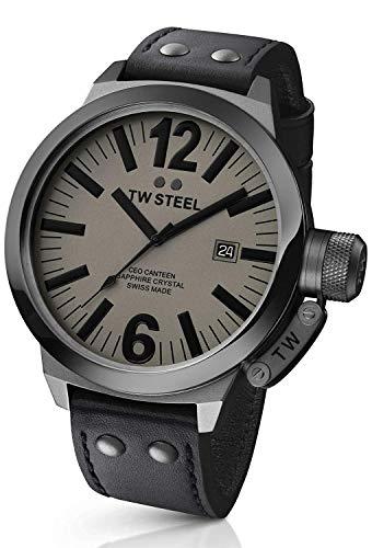 TW Steel Unisex Quartz Watch with CEO Swiss Edition Analogue Quartz Leather TWCE1051