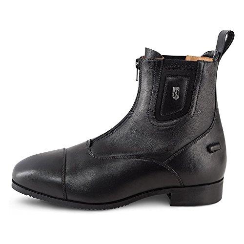 Tredstep Medici Front Zip Paddock 39 Black (Calfskin Zip Boot)