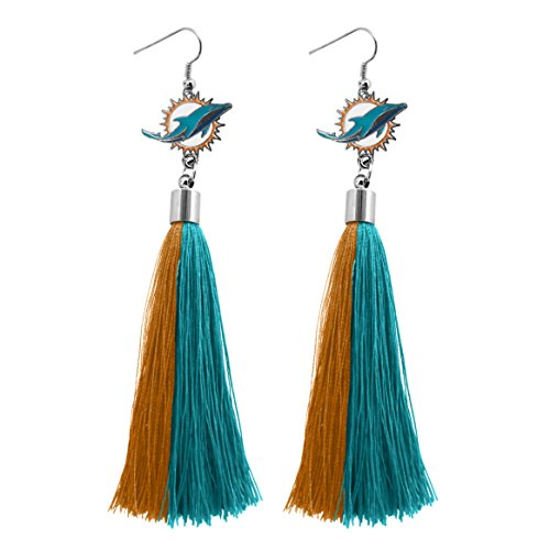 - NFL Miami Dolphins Tassel Earrings