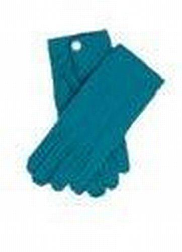 Mens Deluxe Nylon Gloves w/Snaps (Turqoise) Costume -