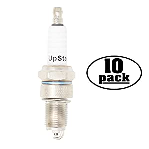 10-Pack Compatible Spark Plug for GRAVELY Truck Loader with Robin 20 & 22 hp V-Twin - Compatible Champion RN12YC & NGK BPR5ES Spark Plugs