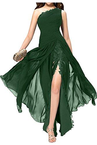 mia Gruen mit Etuikleider Damen Braut Festlichkleider La Dunkel Brautjungfernkleider Chiffon Promkleider Abendkleider Traube Schlitze Hdqvv8WO