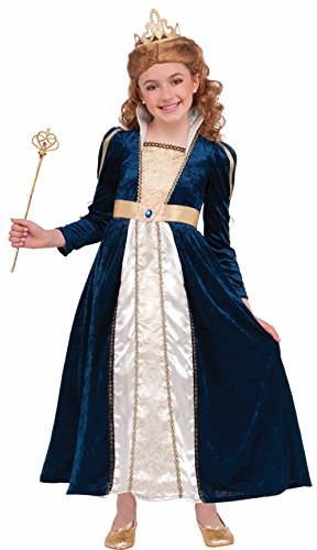 Forum Novelties Kids Royal Navy Princess Costume, Blue, Large (Abc 13 Days Of Halloween)