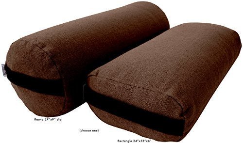 Bean Products Yoga Bolster - Hemp Round - Cocoa