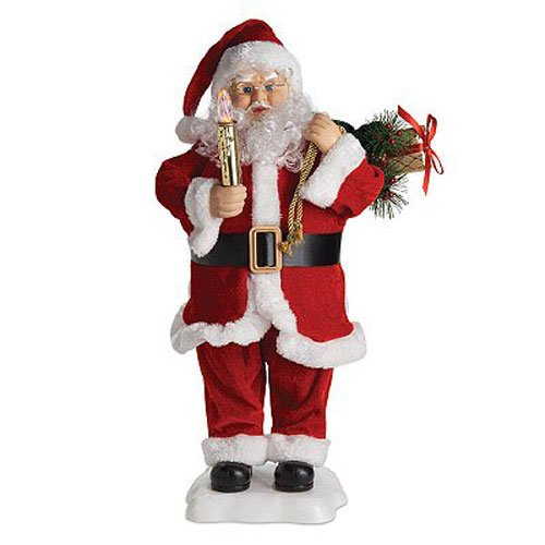 4 SEASONS GLOBAL HYX1124004 Animate Santa/Candle, 24