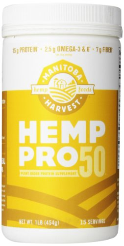 Manitoba Harvest Hemp Pro 50 Protein Powder, 16oz; with 15g of Protein & 7g of Fiber per Serving, Preservative-Free, (Chocolate Granola Recipes)