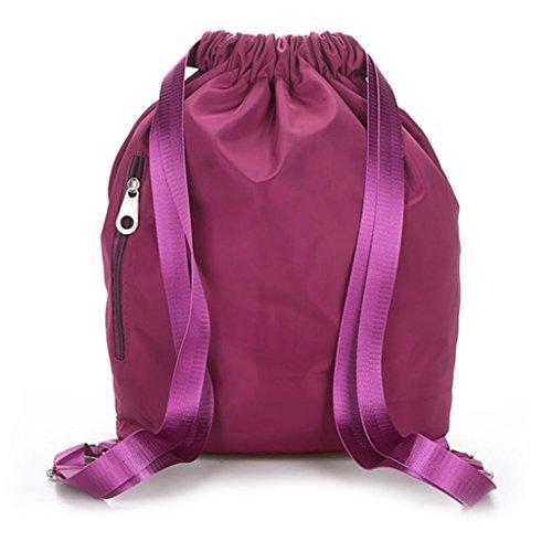 Oscuro 81X5 Mochila con 30X15X39CM para Hombre Hot y Cordón 91X15 Nailon Mujer de Dabixx Impermeable 35 Color Azul Pink Nailon Rojo 11 TFdwq6C6