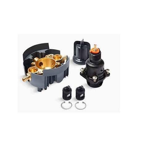 Image of Kohler K-8304-PS-NA Rite-Temp Valve Body and Pressure-Balance Cart.Kit with Service Stops and PEX Crimp Connections Home Improvements