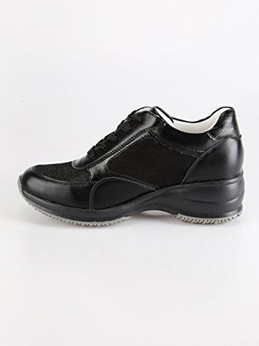 Sneakers Donna Scarpe e Brillantini Donna queen Zeppa Casual Nero Interna helena con Strass MECshopping TgwqffEpxF