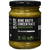 Meadow & Marrow Beef Bone Broth Concentrate - Lemon Herb Flavour - 260 Grams - Australian Grass Fed Beef - 10 X More Amino Acids/G* - Free from Gluten, Diary, Nuts & Soy