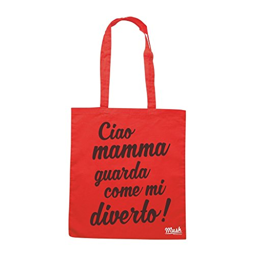 Borsa FESTA DELLA MAMMA JOVA - Rossa - DIVERTENTE by Mush Dress Your Style