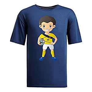 Custom Mens Cotton Short Sleeve Round Neck T-shirt,2014 Brazil FIFA World Cup UP71 navy