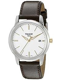 Tissot Men's T0334102601101 T-Classic Analog Display Swiss Quartz Brown Watch